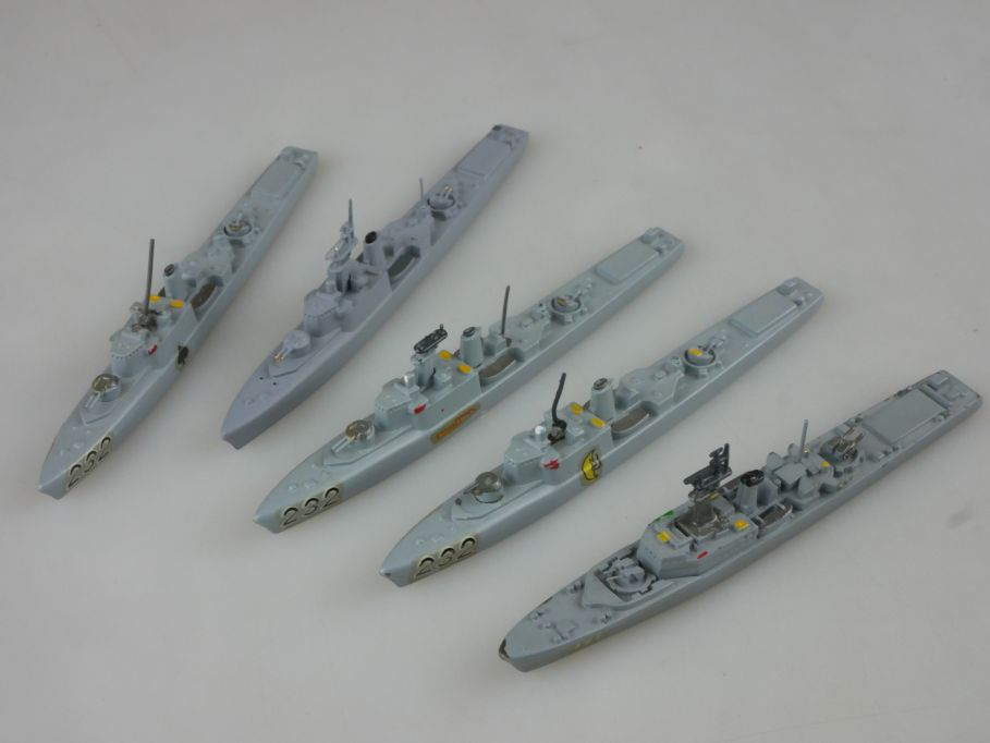 5x 1/1250 Canada Wiking Restigouche Hansa S41 St Laurent destroyer Marine 112749