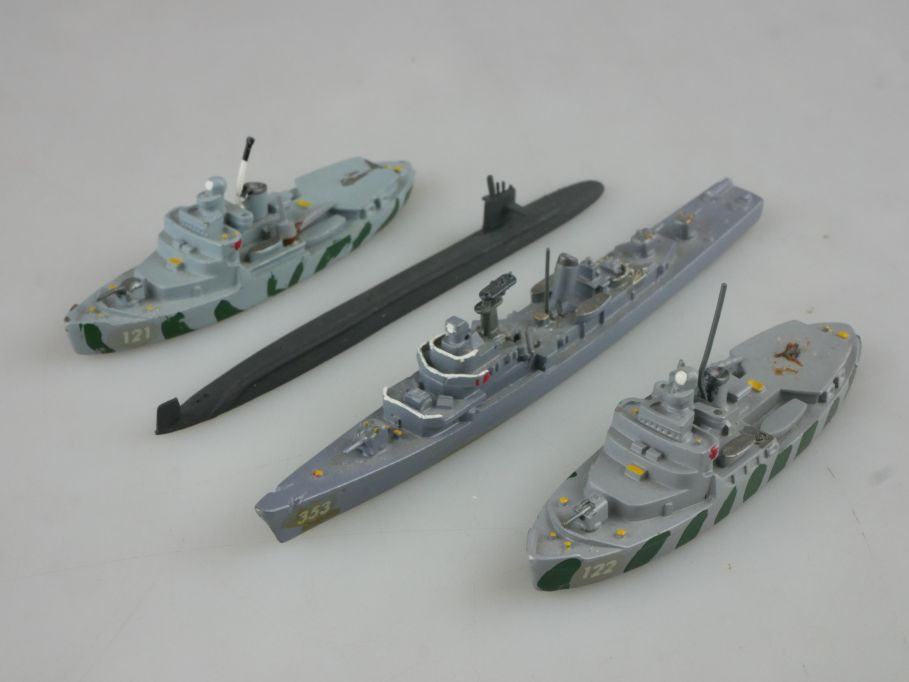 4x 1/1250 US Wind Kl Sherman destroyer Wiking etc. SSN-703 Boston U-Boot 112750