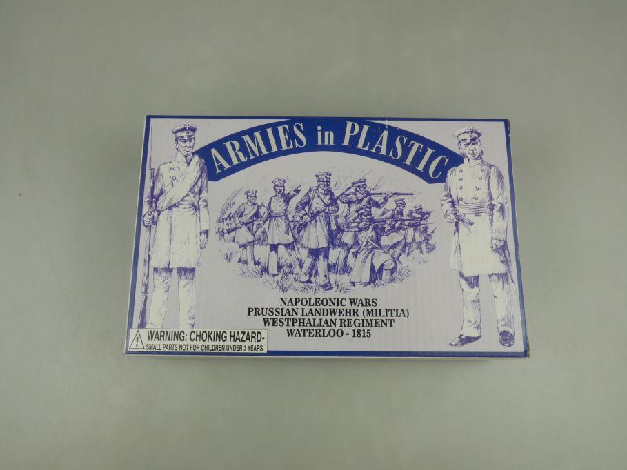 Armies in Plastic 1/32 Prussian Landwehr 1815 5498 figure kit w/Box 112695