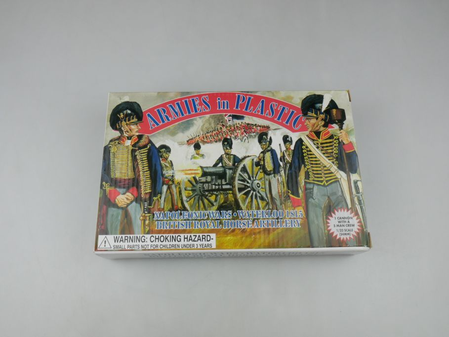 Armies in Plastic 1/32 British Horse Artillery 1815 5432 figure kit w/Box 112692