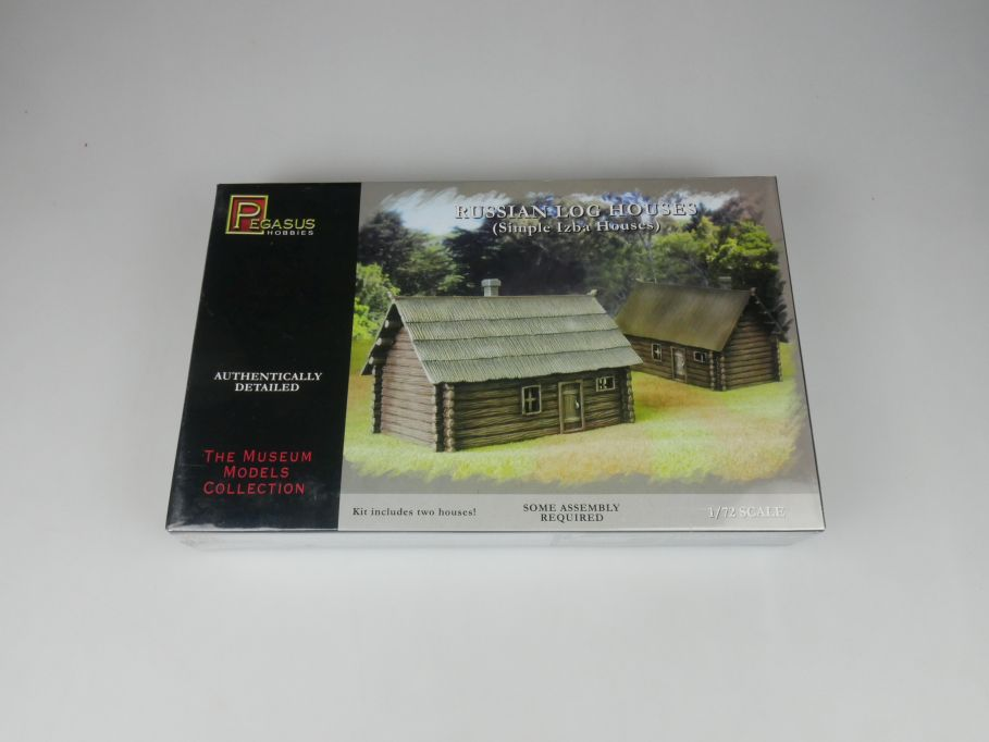 Pegasus 1/72 Russian Log House Karilian region Izba No 7704 kit w/Box 112777