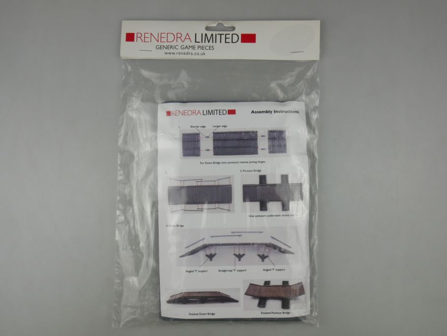 Renedra Generics 28mm Pontoon Bridge Brücke model kit w/o Box 112780