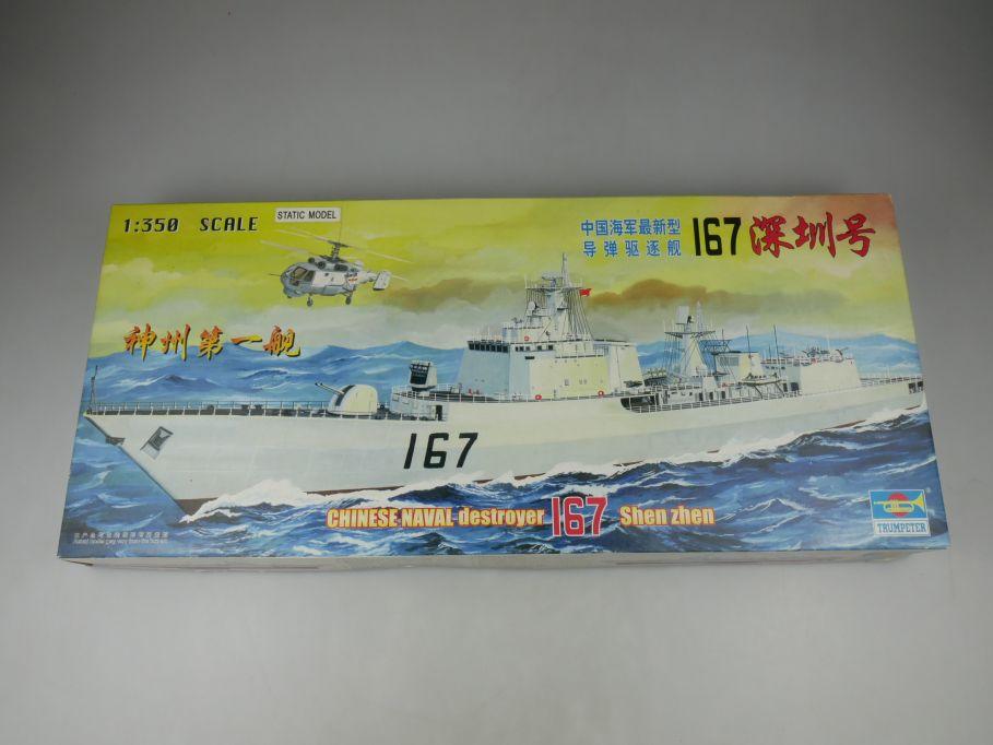 Trumpeter 1/350 Chinese Naval Destroyer 167 Shen Zhen ship kit w/Box 112781