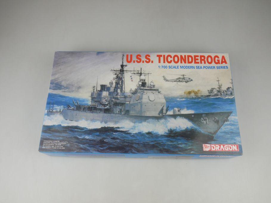 Dragon 1/700 U.S.S. Ticonderoga Modern Sea Power 7018 ship kit w/Box 112792