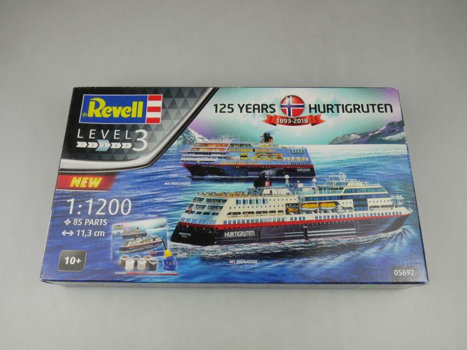 Revell 1/1200 MS Trollfjord MS Midnatsol inlc Farben 05692 ship kit w/Box 112814