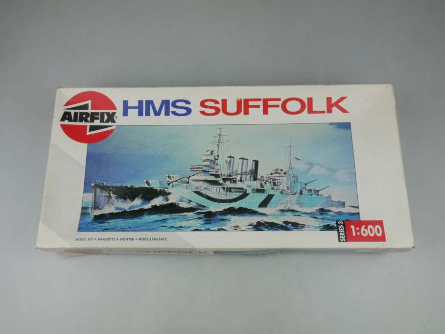 Airfix 1/600 HMS Suffolk Series 3 03202 British ship kit w/Box 112818