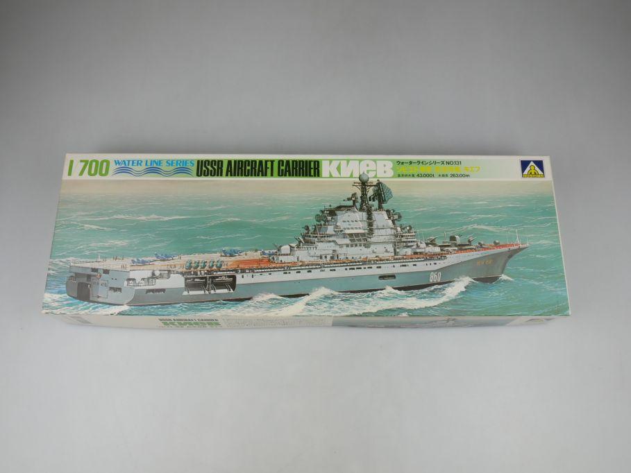 Aoshima 1/700 USSR Aircraft Carrier Kiev KNEB No 131 ship kit w/Box 112821