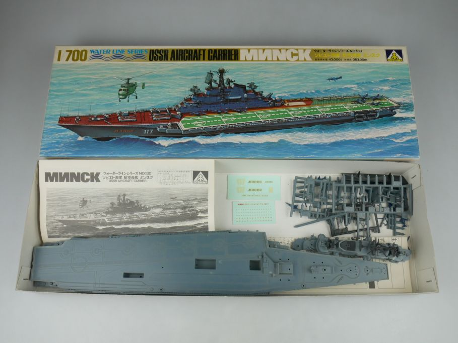 Aoshima 1/700 USSR Aircraft Carrier Minsk No 130 ship kit w/Box 112822