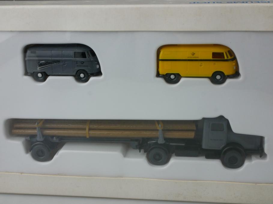 Wiking PMS Set H0 Dt. Post VW Transporter T1 Schnellbautrupp 66-51 Box 112801