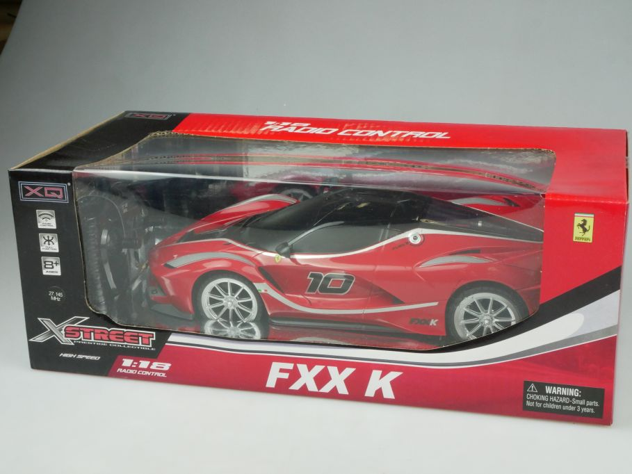 XQ Toys 1/18 RC Ferrari FXX K # 10 Radio Control Model Car 3708 + Box 112871