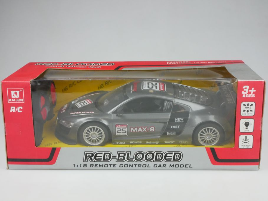 Kai Jun KJ Toys 1/18 RC Red Blooded Remote Control LED Model Car 2022-2 112873