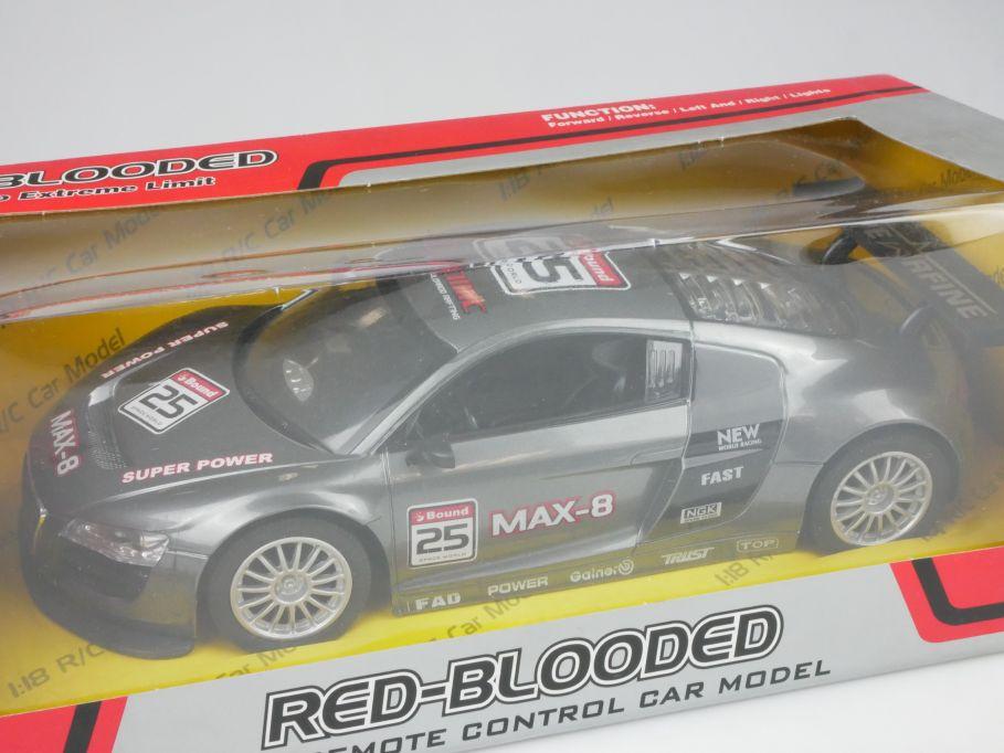Kai Jun KJ Toys 1/18 RC Red Blooded Remote Control LED Model Car 2022-2 112873