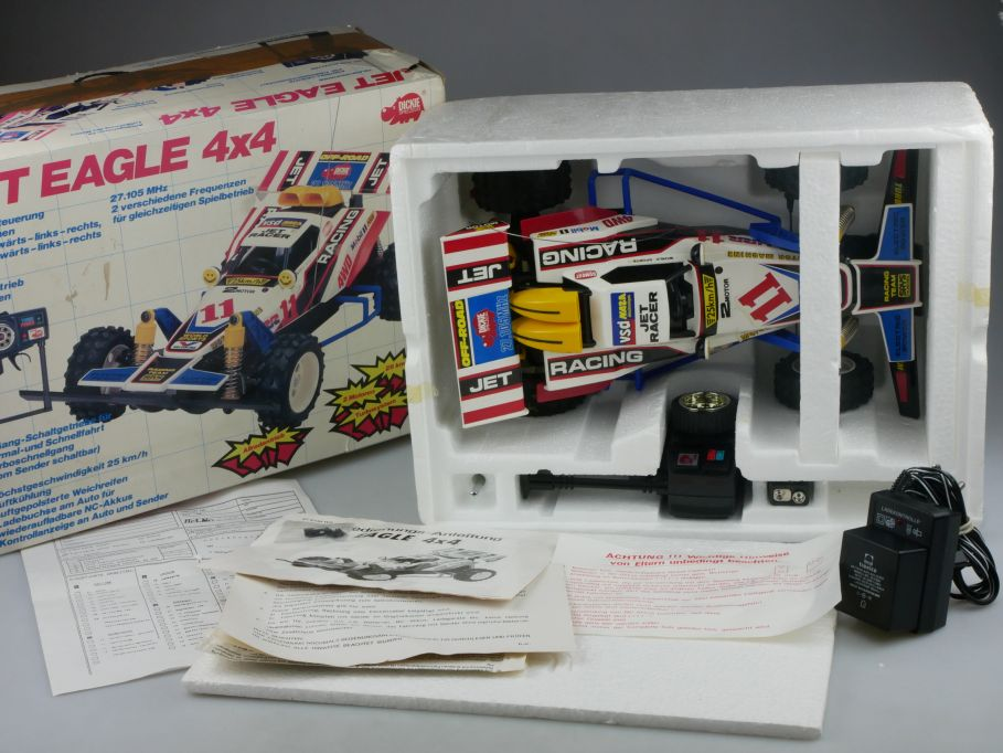 Dickie 18739 80s RC Jet EAGLE 4WD Buggy Funk-Fernsteuerung Box 112908