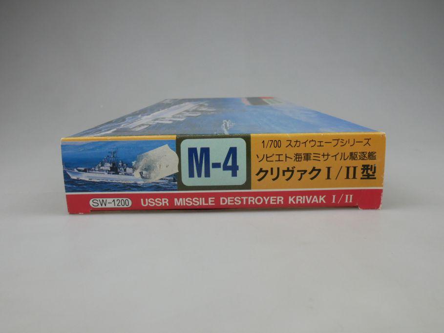 Sky Wave 1/700 Pit Road USSR Missle Destroyer Krivak I/II M-4 kit w/Box 112836
