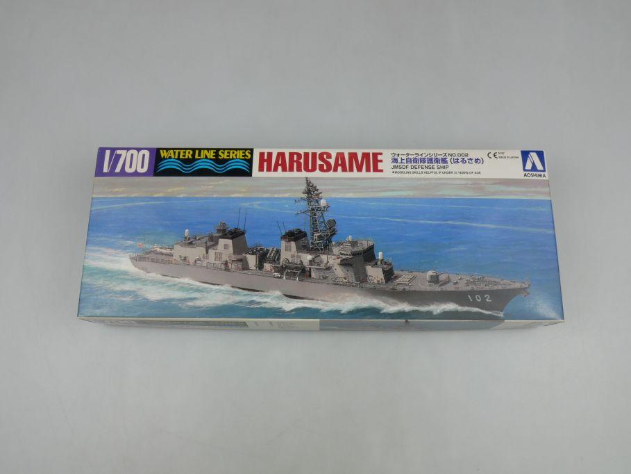 Aoshima 1/700 Harusame JMSDF Defence Ship No 002 kit w/Box 112847