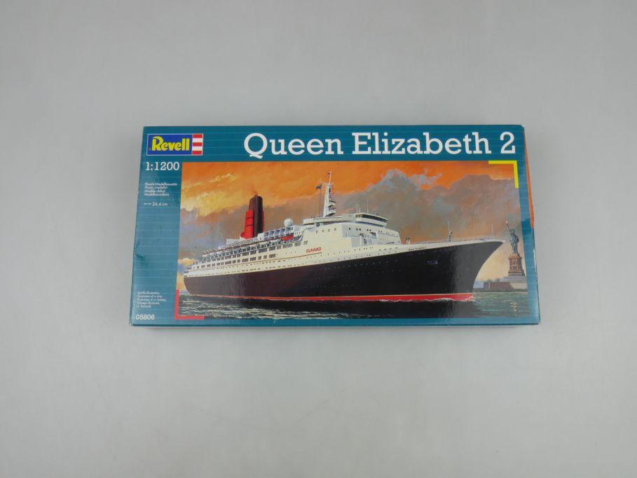 Revell 1/1200 Queen Elizabeth 2 No 05806 ship kit w/Box 112849
