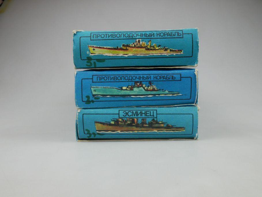 1/500 Kriegsschiffe Russand 3x 123 125 126 DDR ship kit w/Box 112850