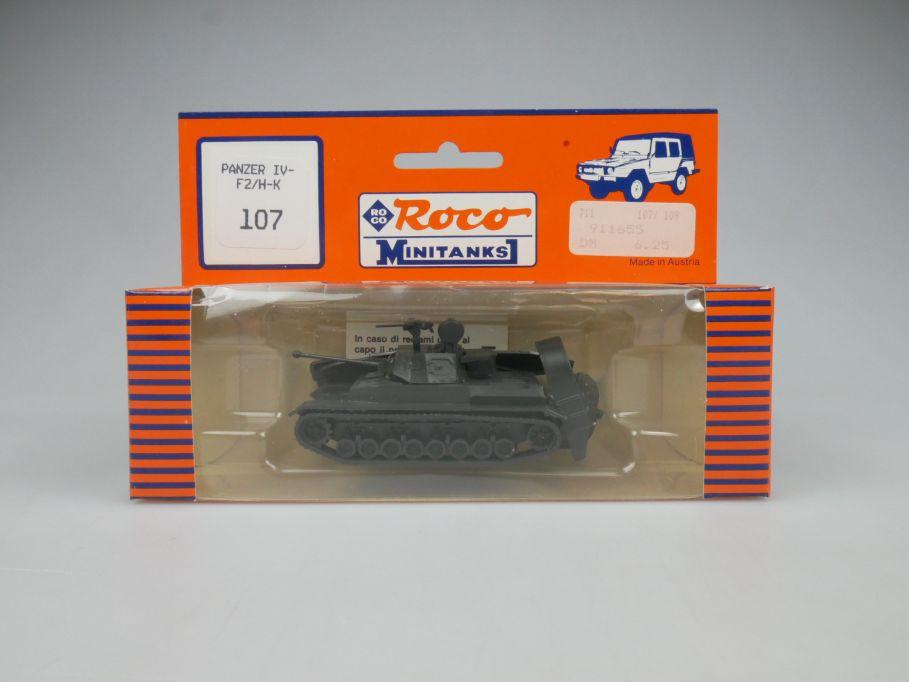 Roco 1/87 H0 Panzer IV-F2/H-K 107 Wehrmacht Minitanks Tank Militär w/Box 112892