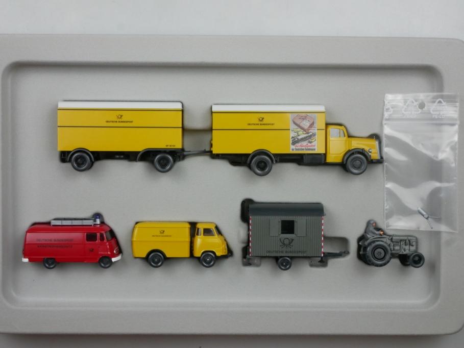 Wiking 1/87 PMS Post Mercedes Hanomag 50er Jahre 2003 80-07 w/Box 112901