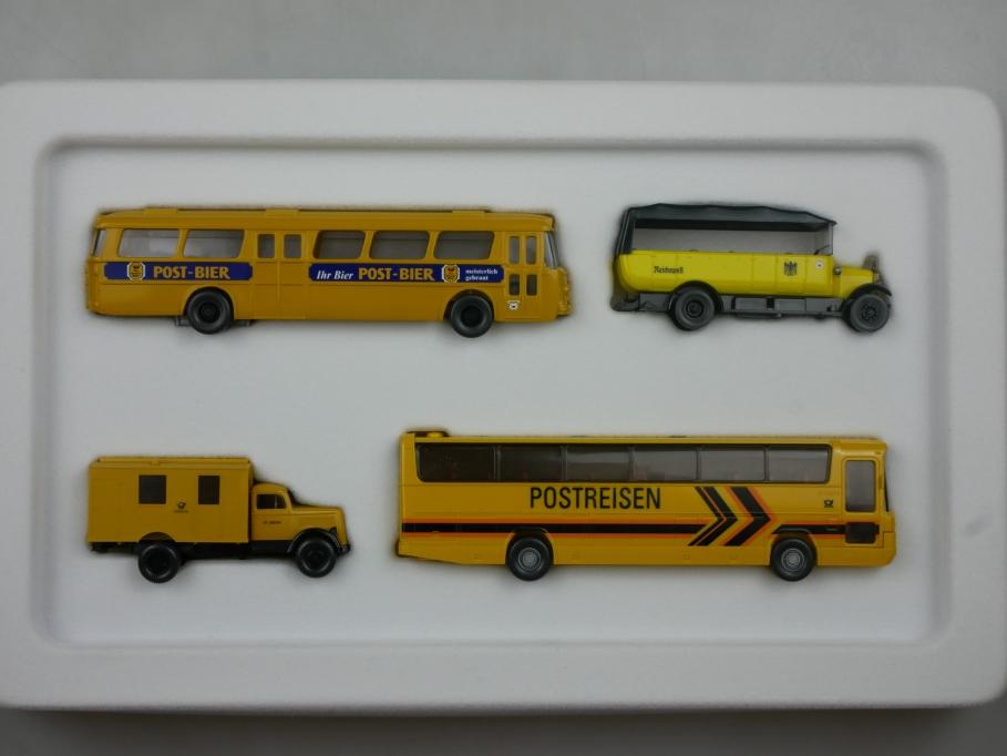 Wiking 1/87 PMS Büssing Mercedes Opel Kraftpost 2005 Nr 81-28 w/Box 112902