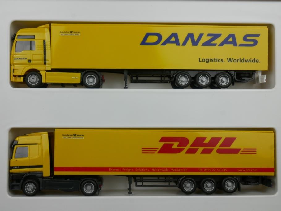 AWM 1/87 H0 Aus Danzas wird DHL MAN TG-A XXL Mercedes Actros 006738 w/Box 112924