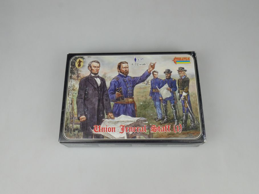 Strelets 1/72 0046 Civil War 1861-65 Union Jeneral Staff Figur kit w/Box 112979