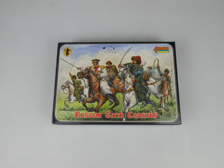 Strelets 1/72 0026 Crimean War Russian Terek Cossack Figur kit w/Box 112981