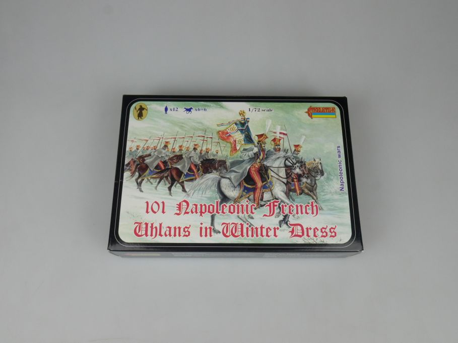 Strelets 1/72 101 Napoleonic Wars French Uhlans Winter Figur kit w/Box 112991