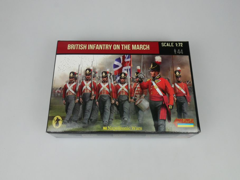 Strelets 1/72 141 Napoleonic Wars British Infantry March Figur kit w/Box 113000