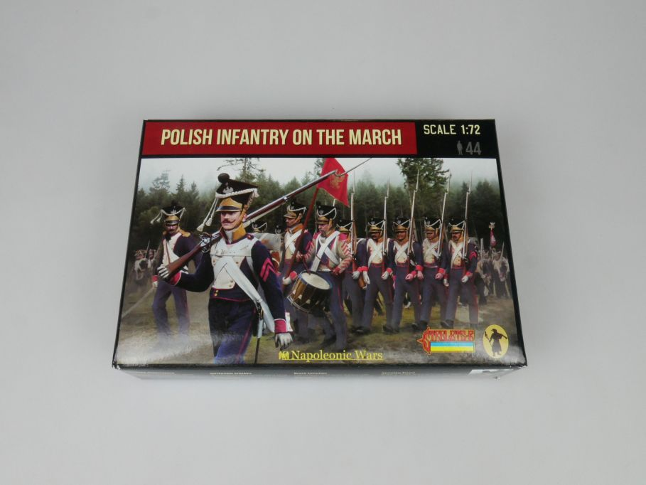 Strelets 1/72 142 Napoleonic Wars Polish Infantry March Figur kit w/Box 113001