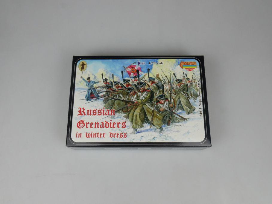 Strelets 1/72 M011 Napoleonic Russian Grenadiers Winter Figur kit w/Box 113003