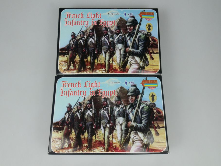 Strelets 1/72 2x M069 French Light Infantry in Egypt Figur kit w/Box 113014