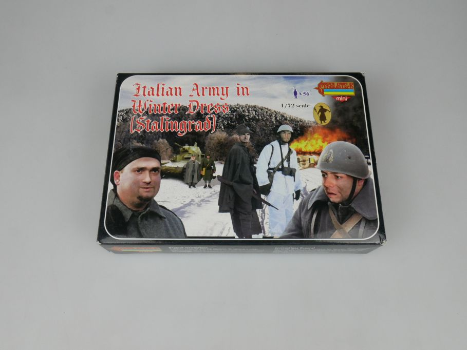 Strelets 1/72 M082 Italian Army Winter Dress Stalingrad Figur kit w/Box 113017
