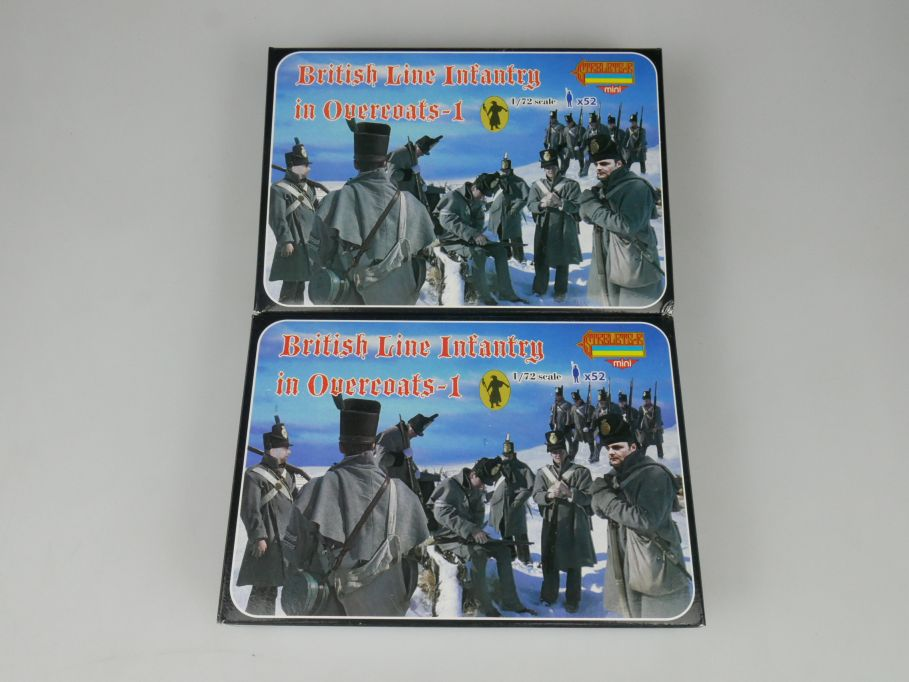 Strelets 1/72 2x M094 British Line Infantry Overcoats -1 Figur kit w/Box 113019