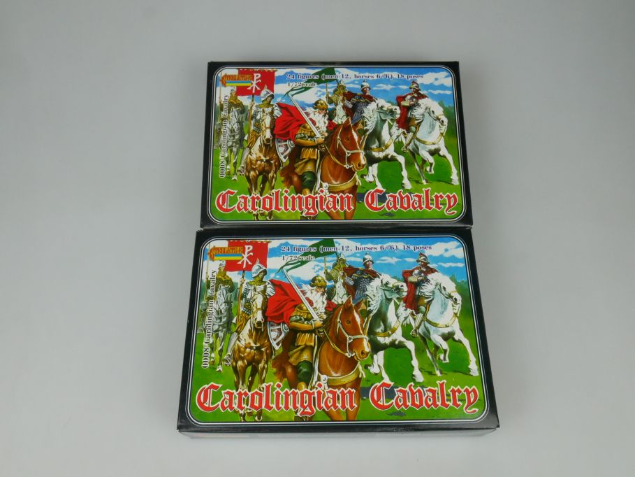 Strelets 1/72 2x 0008 Carolingian Cavalry Figur kit w/Box 113024