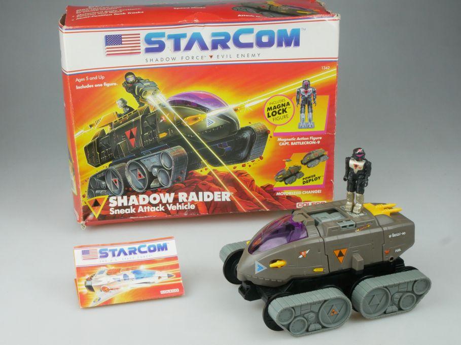 80s toy Starcom Shadow Raider Fahrzeug Battlecron-9 Coleco Macao 1986 Box 113045