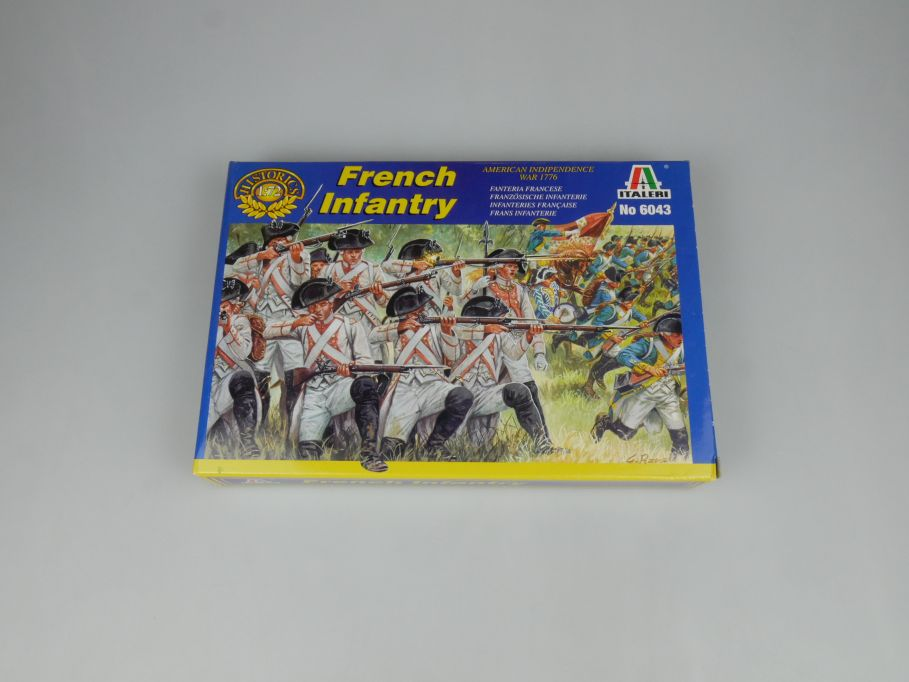 Italeri 1/72 American Indipendence 1776 War French Infantry 6043 kit Box 113648