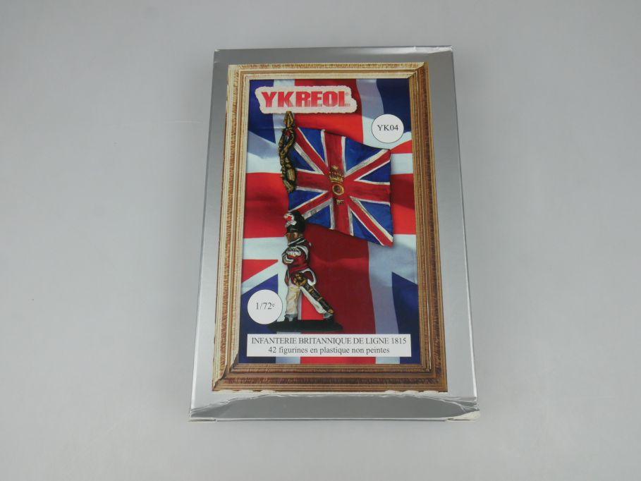 YKREOL 1/72 Infanterie Britannique de Ligne 1815 Figures YK04 kit Box 113651