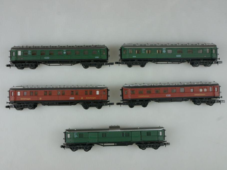 Arnold Spur N 5x DRG Schnellzugwagen 1/2 + 3 Kl. Schlaf- Pack- Sitzwagen 113346