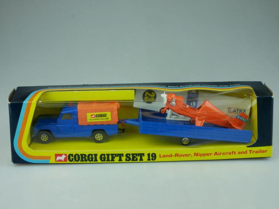 Corgi Gift Set 19 Land Rover Nipper Aircraft plane and Trailer GS19 + Box 113448