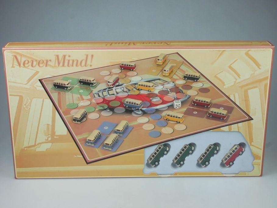 Brettspiel Never mind Spiel mit 16x VW T1 Bulli Volkswagen 1/72 hongwell 113499
