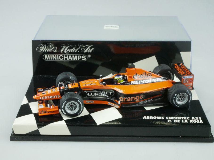 Minichamps 1/43 F1 Arrows Supertec A21 18 P. de la Rosa 430000018 Vitrine 113667
