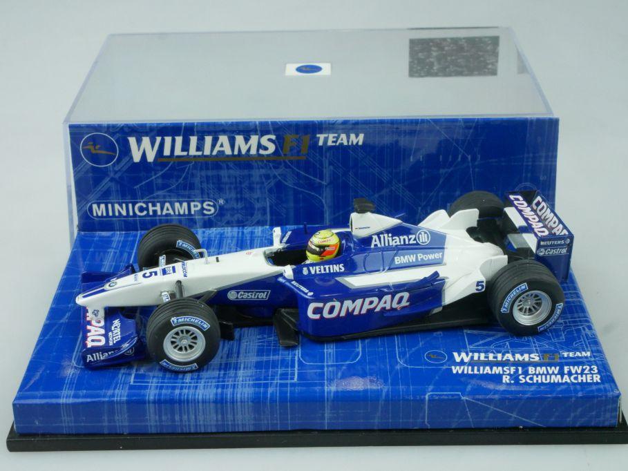 Minichamps 1/43 F1 Williams BMW FW23 5 R. Schumacher 400010005 Vitrine 113668