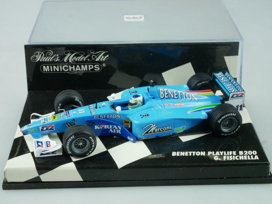 Minichamps 1/43 F1 Benetton Playlife B200 G. Fisichella 430000011 Vitrine 113670