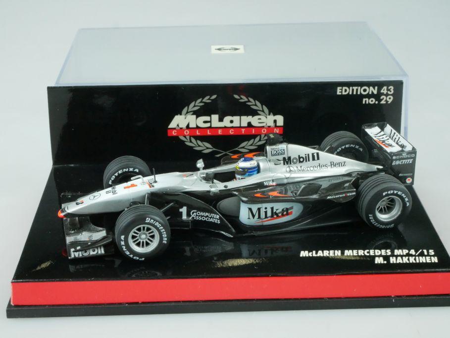 Minichamps 1/43 F1 McLaren Mercedes MP4/15 M. Hakkinen 530004301 Vitrine 113674