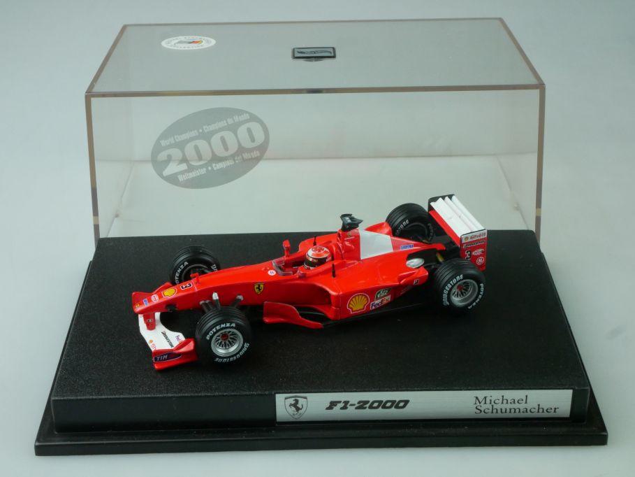 Hotwheels 1/43 F1-2000 M. Schumacher Ferrari # 3 26748 + Vitrine 113677