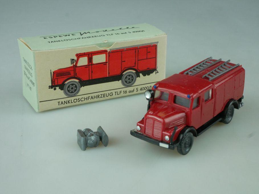 Espewe H0 1/87 1014/2 Tanklöschfahrzeug TLF 16 auf S 4000/1 DDR Box 113699
