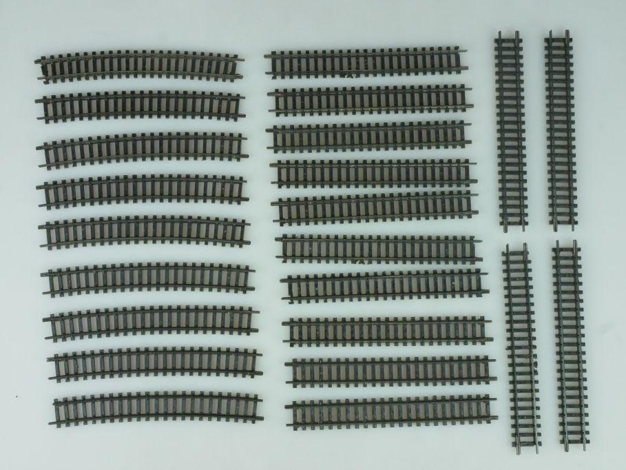 Arnold Spur N Gleise 14x 0102 + 9x 0164 gebogene schwarze Gleise 113844