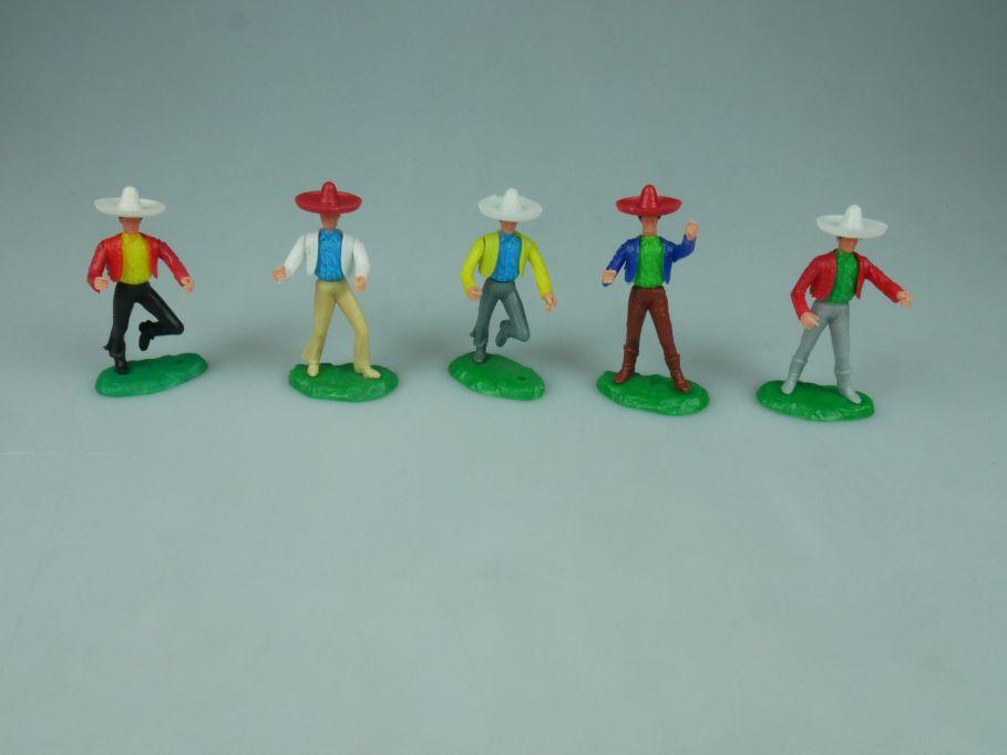 Elastolin Hausser Steckfiguren 5 Mexikaner Ersatzteile 114053