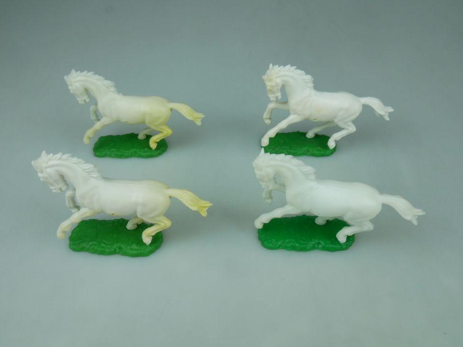 Elastolin Hausser 4 Pferde Steckfiguren Ersatzteile 114062